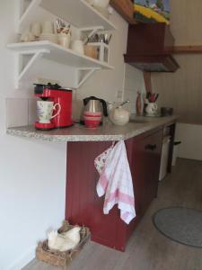 Een keuken of kitchenette bij B&B Boerderij Wijtvliet