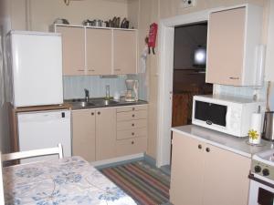 A kitchen or kitchenette at Farmhouse Tervamäki