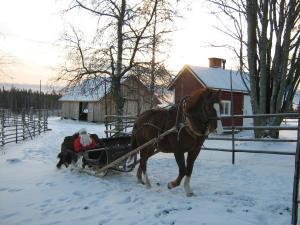 Farmhouse Tervamäki during the winter