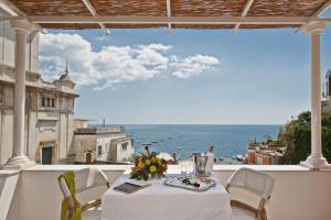 A balcony or terrace at Villa Flavio Gioia