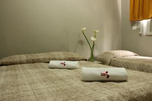 A bed or beds in a room at Hotel Saveiro