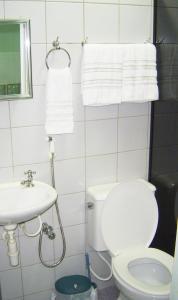 A bathroom at Studio Brasília