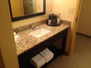 A bathroom at Holiday Inn Express Augusta Downtown, an IHG hotel