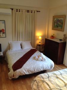 Łóżko lub łóżka w pokoju w obiekcie Allotjaments Serra de Tramuntana