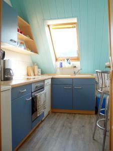 Küche/Küchenzeile in der Unterkunft Ferienwohnung Prinke