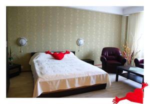 Кровать или кровати в номере Апартаменты Сибкварт