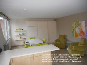 A kitchen or kitchenette at Residentie Delta