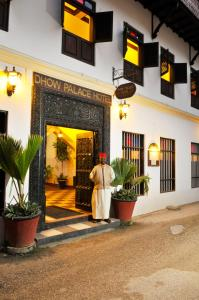 A porch or other outdoor area at Dhow Palace Hotel