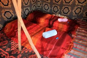 A bed or beds in a room at Ouzina Rimal