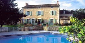 The swimming pool at or near Hôtel Les Orangeries