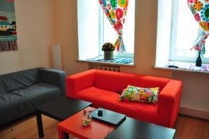 Гостиная зона в Friday Hostel апартаменты