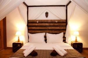 ヴィラ アナカオ モーリシャスにあるベッド