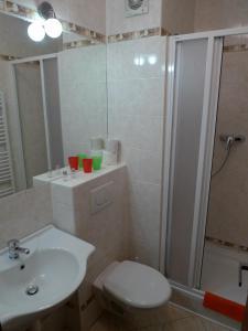 A bathroom at Hotel Prokop