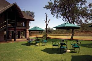 A garden outside Zebra Country Lodge