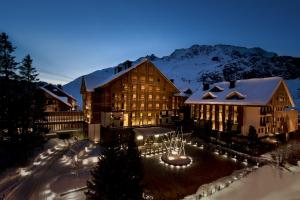The Chedi Andermatt during the winter