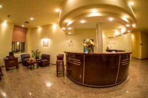 The lobby or reception area at Hotel Alinalex - Paradisul Acvatic