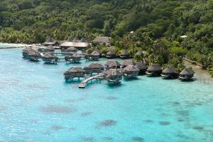 A bird's-eye view of Sofitel Bora Bora Marara Beach Resort