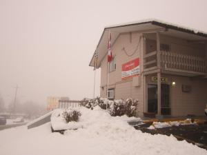 Star Lodge during the winter