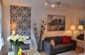 Ein Sitzbereich in der Unterkunft Artist House Amsterdam