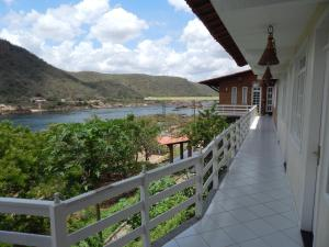 A balcony or terrace at Pousada Porto de Piranhas