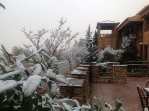 Hospederia del Zenete during the winter