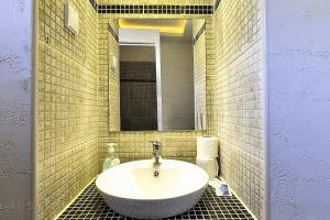 A bathroom at Vila Etna