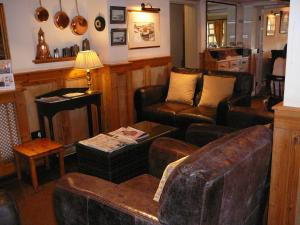 A seating area at The King William IV Country Inn & Restaurant