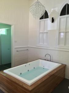 A bathroom at Altar Ego Church Stay