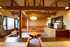 A seating area at Kuju Kogen Cottage