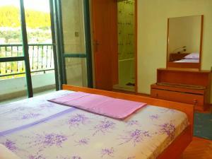 Posteľ alebo postele v izbe v ubytovaní Hoxha rooms
