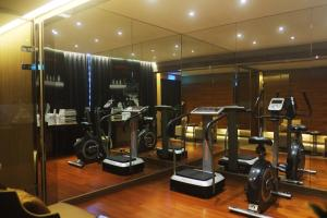 The fitness center and/or fitness facilities at Aqua Bella Hotel