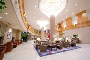 The lobby or reception area at Surfeel Hotel Wakkanai
