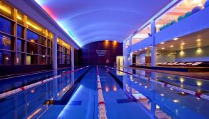 The swimming pool at or near Hilton Warsaw Hotel