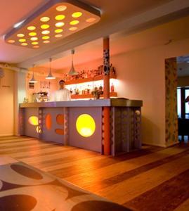 The lobby or reception area at Hotel Kandava