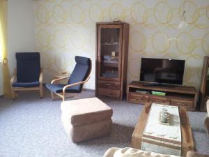 TV/Unterhaltungsangebot in der Unterkunft Ferienwohnung Rittergut