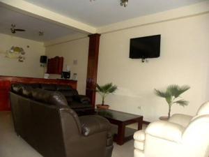The lobby or reception area at Hotel Jose Antonios Inn