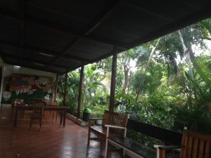 A balcony or terrace at Hotel Ometepetl