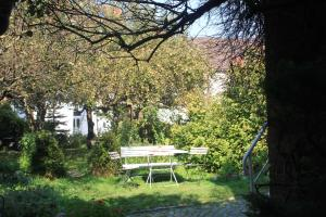A garden outside Hotel Reingard