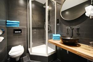 Een badkamer bij Hotel Bor Scheveningen