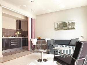 A seating area at The Urban Suites