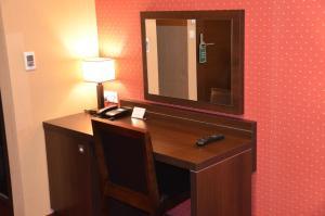 Telewizja i/lub zestaw kina domowego w obiekcie Hotel Pik
