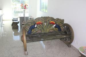 Uma área de estar em Canarios Hostel