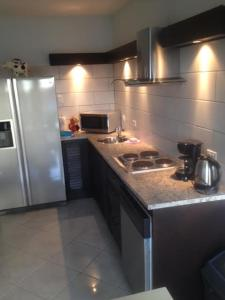 A kitchen or kitchenette at Landslake Apartments