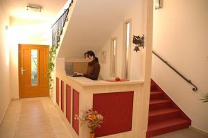 Лобби или стойка регистрации в Hotel & restaurant SIGNAL
