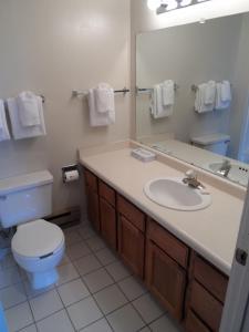 A bathroom at Jackson Hole Towncenter, a VRI resort