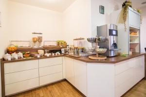 A kitchen or kitchenette at Hotel Zlami-Holzer