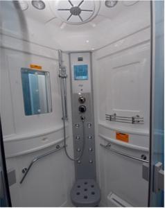 A bathroom at Porto Kalliali