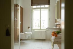 A bathroom at Hotel Kašperk