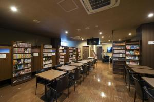 The library in the capsule hotel