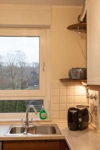 A kitchen or kitchenette at Schmuckstück in Essen